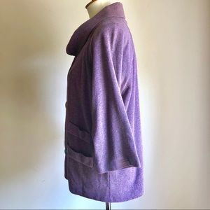 Chalet Sweaters - Funky Purple Ltwght Sweater size 1X Chalet Buttons